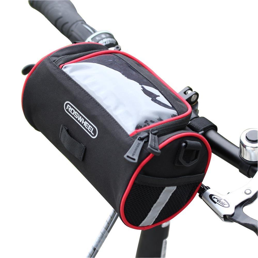 TRADERPLUS Bike Basket Bicycle Handlebar Bag with Shoulder Strap for Cruisers Mountain Road MTB Bike