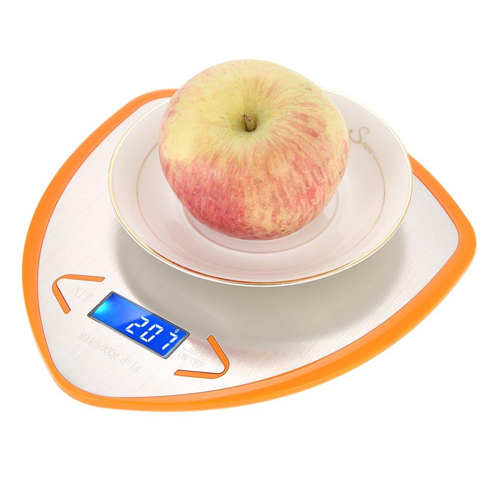 Decdeal WeiHeng Digitale Küchenwaage Präzisionswaage 3kg x 1g mit 3 Wiegeeinheiten, Hintergrundbeleuchtung, Tara-Funktion