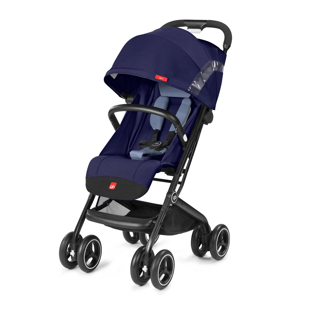 gb 2018 Buggy QBIT+ WITH Bumper Bar ''Saphir Blue navy blue''- from birth up to 17 kg (approx. 4 years) - GoodBaby QBIT PLUS