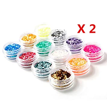 Amazon Warm Girl 24pcslot Nail Hexagon Glitter For Nail