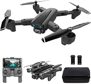 GoolRC CSJ S167 GPS Drone, 2.4G WiFi FPV RC Drone with Camera 4K HD Gesture Photos Video, Auto Return Home, Altitude Hold, Follow Me RC Quadcopter for Adults with 2 Batteries and Handbag