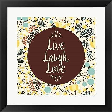 24efb50fbfe Amazon.com  Live Laugh Love Retro Floral White by Color Me Happy ...