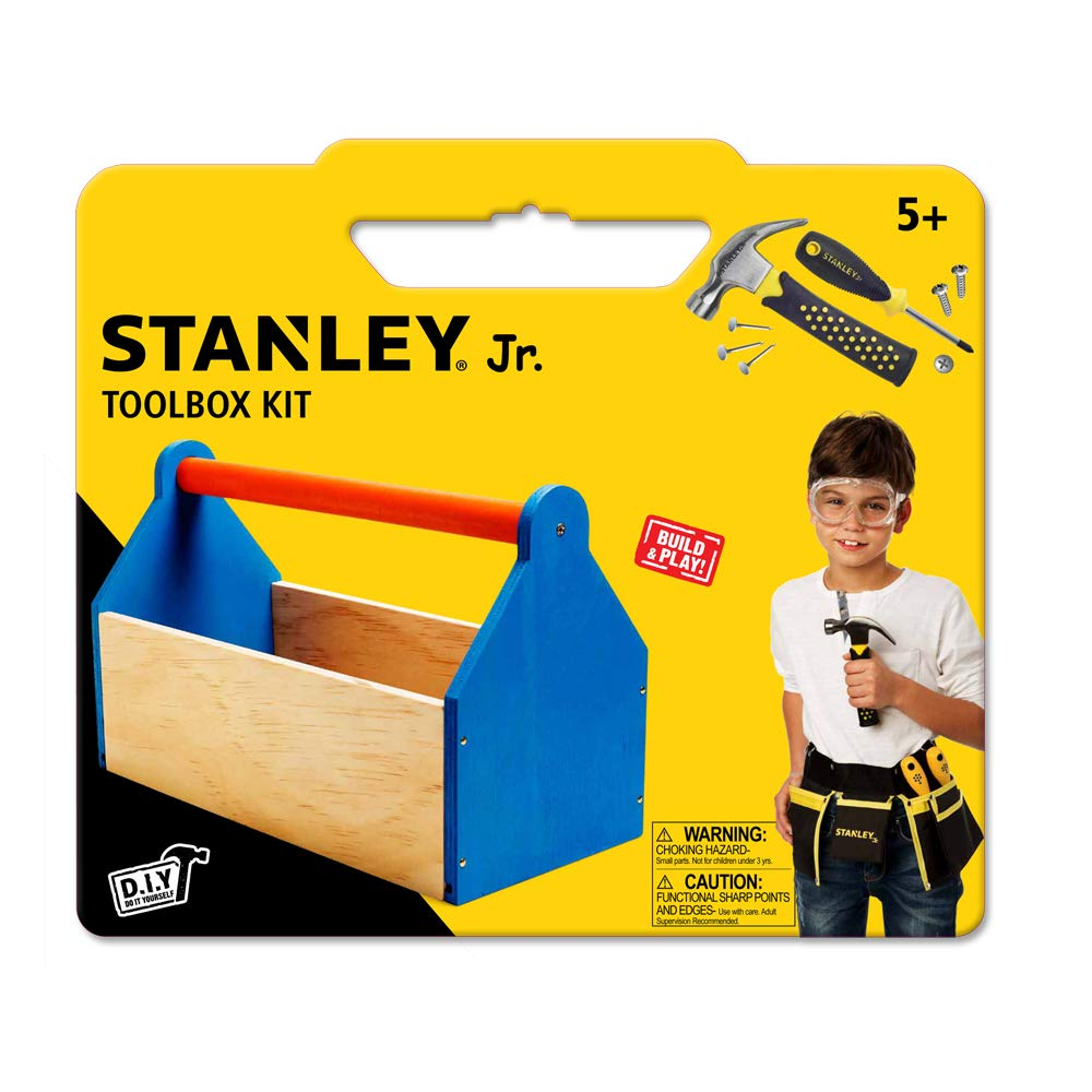 Stanley Jr DIY Toolbox Kit for Kids - Easy to Assemble Wood Craft Toolbox - Build A Tool Box for Kids - Paint & Brushes Included by Stanley Jr (Image #3)