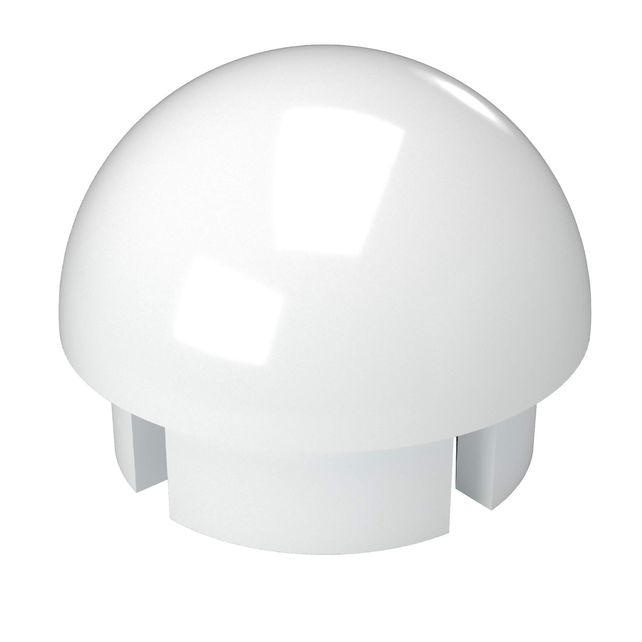 FORMUFIT F114BEC-WH-10 PVC Internal Ball End Cap, Furniture Grade, 1-1/4'' Size, White (Pack of 10)