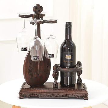 WEII Estante para Vinos Portavasos de Madera Creativa Portavasos de Vino Esmalte de Almacenamiento Multifuncional Decoración,Imagen,Un tamaño: Amazon.es: ...