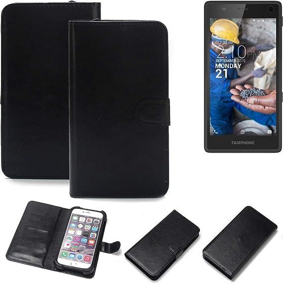 K-S-Trade® Wallet Case Handyhülle Für Fairphone Fairphone 2 Schutz Hülle Smartphone Flip Cover Flipstyle Tasche Schutzhülle F