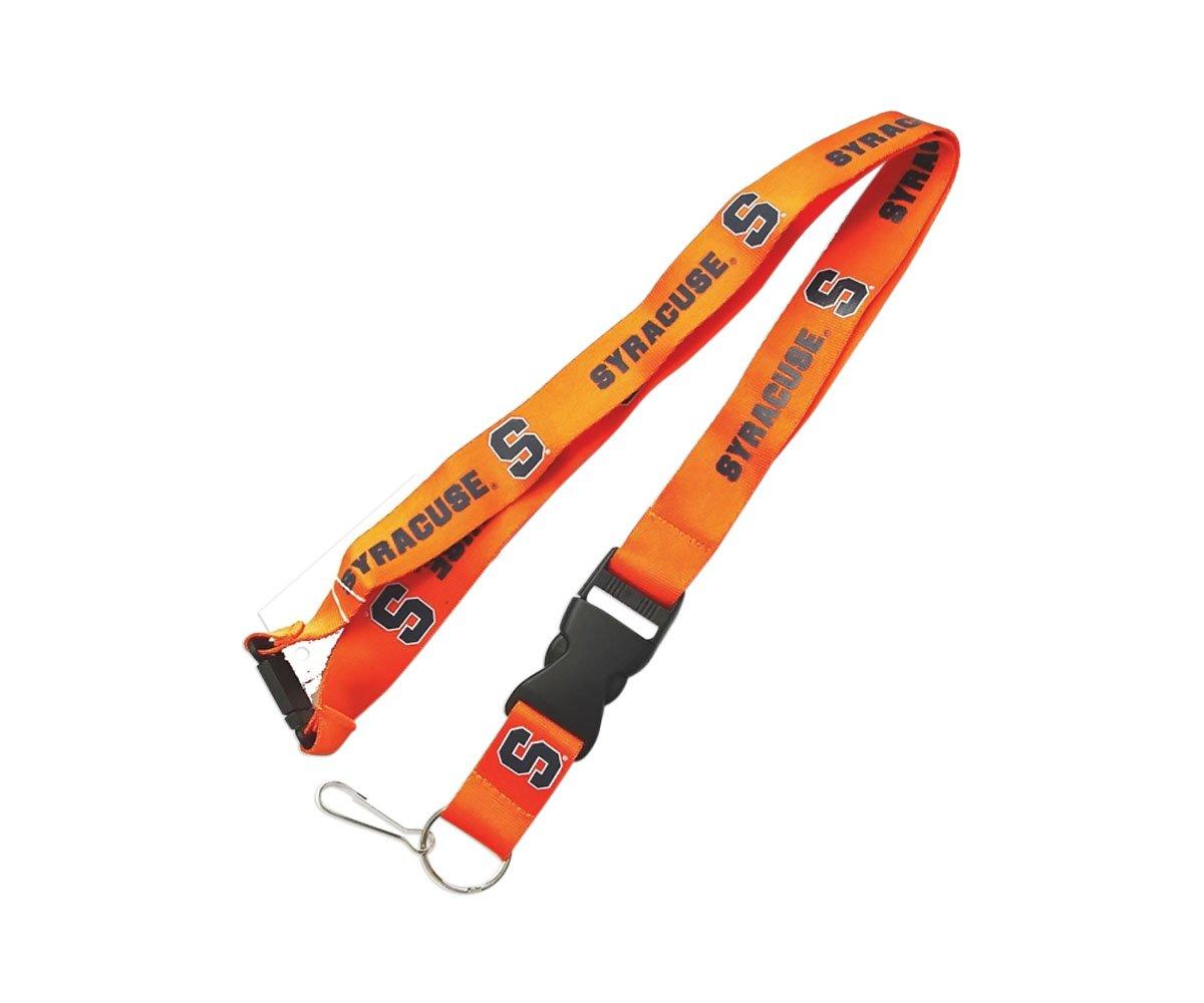 Orange aminco Syracuse Orangemen Clip Lanyard Keychain Id Ticket Holder NCAA