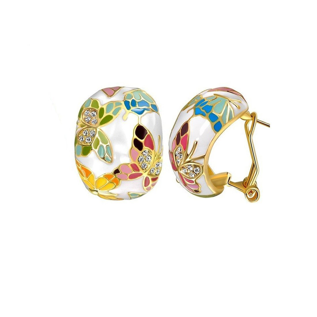 Yellow Chimes Crystals from Swarovski Queen of Versailles Enamel Crystal Earrings for Women and Girls