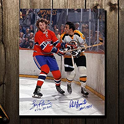 Larry Robinson Montreal Canadiens vs. Phil Esposito Boston Bruins Dual  Autographed 16x20 - Autographed NHL Photos 15713a434