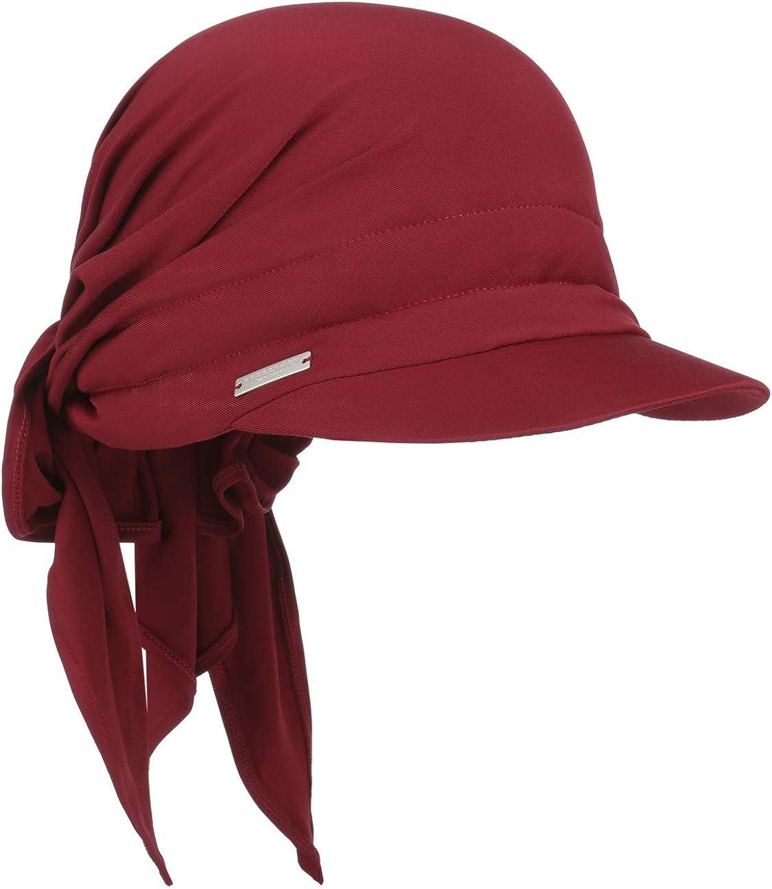 Seeberger Jersey Bandana Cap Damencap Sonnencap Visor Mit Schirm