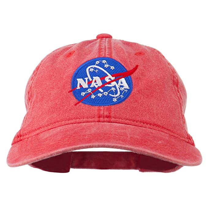 Image Unavailable. Image not available for. Color  NASA Insignia  Embroidered Pigment Dyed Cap ... 8288157b7730