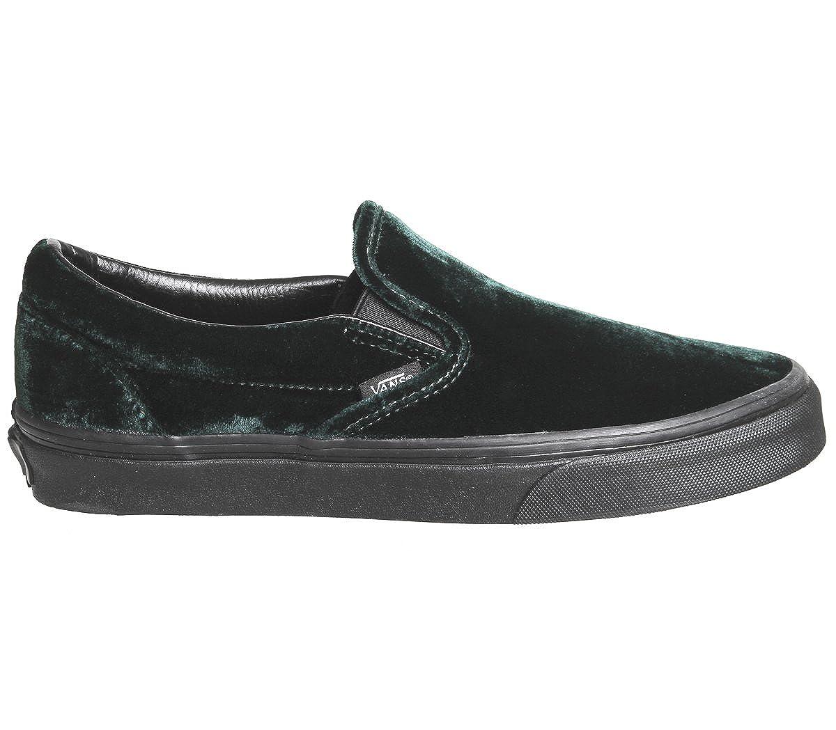 3936ebd807 Vans Men s Classic Slip-on (Velvet) Green Black Sneakers 8.5 Women   7 Men  M US  Buy Online at Low Prices in India - Amazon.in