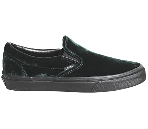 24ba2a7f1b Vans Men s Classic Slip-on (Velvet) Green Black Sneakers 8.5 Women ...