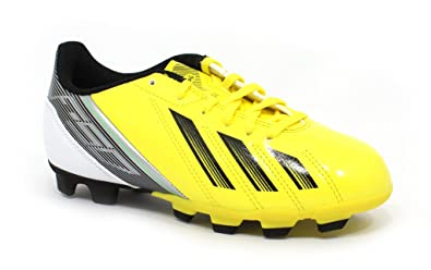 official photos c73b8 ad53c Image Unavailable. Image not available for. Color  adidas F5 TRX FG Soccer  Cleats - White Black Bright Yellow ...