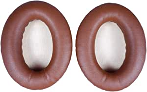 Replacement Ear Pads Earpads for Bose QuietComfort 2 15 25 35 Ear Cushion for QC2 QC15 QC25 QC35 AE2 AE2i AE2w SoundTrue SoundLink (Coffe/Brown cushions + Butter mats)