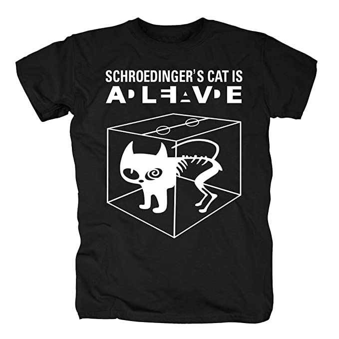 TSP Schroedingers Gato Camiseta para hombre T-Shirt: Amazon.es: Ropa y accesorios