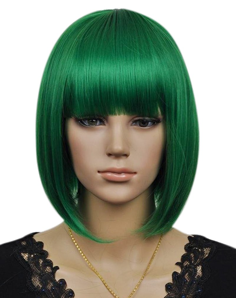 Kalyss Women's Short Bob Dark Green Hair Wig