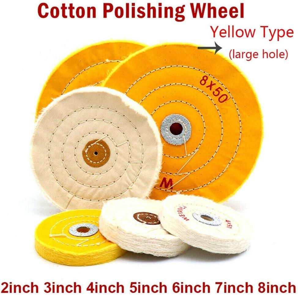 2pcs Spiral Double-Stitched Buffing Wheel White Polished Wheel Pad Mop Kit Buffer Polishing Grinding Machine Pad 8inch 200mm