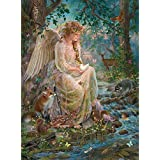 Bits and Pieces - 1000 Piece Glitter Jigsaw Puzzle for Adults - Mother Nature - 1000 pc Forest Fantasy Angel Jigsaw by Artist Liz Goodrick-Dillon
