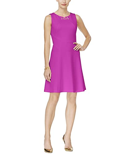 Ivanka Trump Women's Ponte Fit and Flare Sheath Toggle Dress