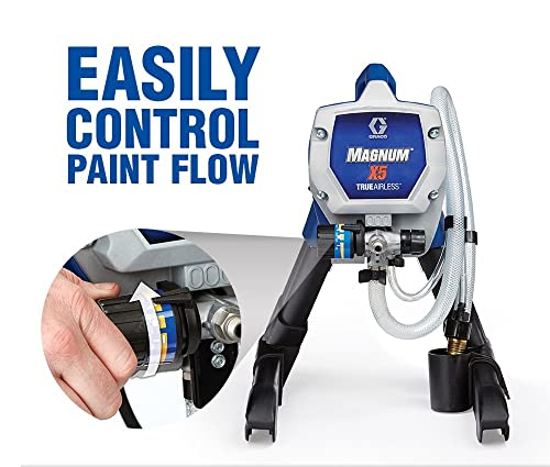 If you desire to have a quality airless sprayer for Exterior Painting, Graco 2622800 Magnum X5 is a great choice