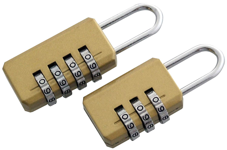 pushfocourag 1 Pc 3Digit Climbing Travel Padlock Suitcase Bag Code Combination Security Lock