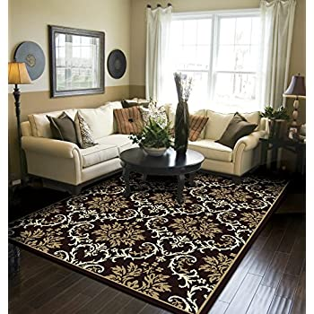 Beau Modern Area Rug Black Large Rugs For Living Room 8x10 Clearance Under 100