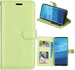 XYX Wallet Case [3 Card Holder][Stand Feature] Premium Flip PU Leather Magnetic Closure TPU Bumper Slim Fit Cover for Lenovo K8 Note (Green)