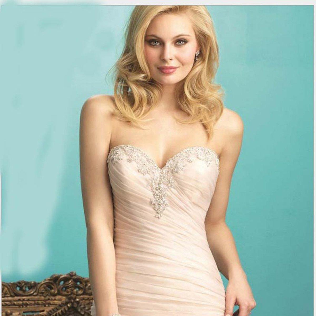 Angel Formal Dresses Women's Sweetheart Applique Beaded Mermaid Ruffles Tulle Wedding Dresses Gown(18,Ivory) by Angel Formal Dresses (Image #2)