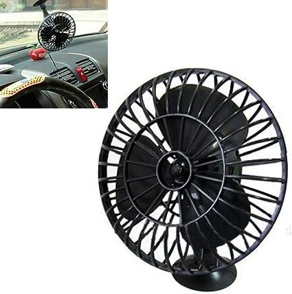 HOMYY Ventilador de coche con ventosa para encendedor de cigarrillos, 4 pulgadas, ventilador de refrigeración de aire: Amazon.es: Coche y moto