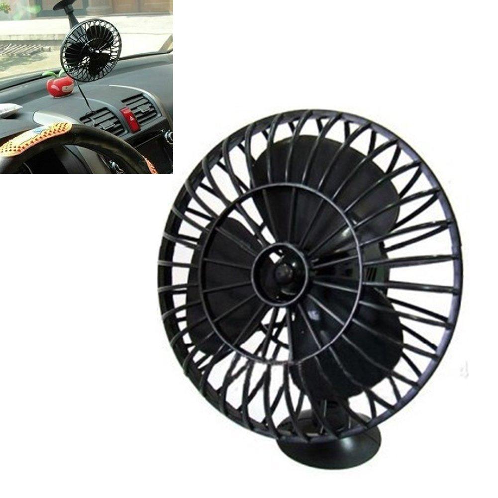 Gezichta Ventilateur de refroidissement de voiture 10,2/cm avec ventouse noir alimentation 12/V mini-ventilateur de refroidissement d/'air pour camion