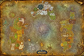 Amazon best print store world of warcraft map of azeroth best print store world of warcraft map of azeroth poster 13x19 inches gumiabroncs Choice Image