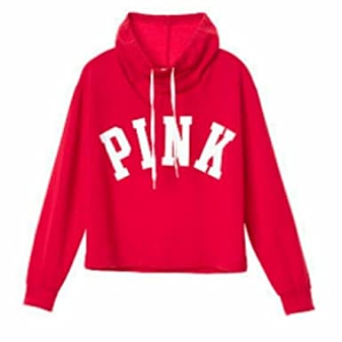 bff56629 Victoria's Secret Pink Sweatshirt Cowl Neck, Red, Small at Amazon ...