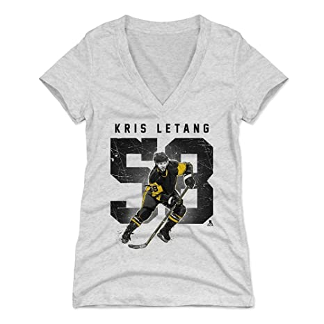pretty nice f90af 34efb 500 LEVEL Kris Letang Women's Shirt - Pittsburgh Hockey Shirt for Women -  Kris Letang Grunge