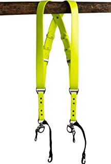 product image for HoldFast Gear Money Maker Vegan 2 Camera Harness (Neon, Small)
