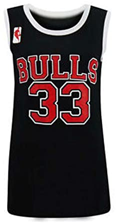 06e6bbb0f6f Ladies Womens Bulls 33 Varsity American Basketball Jersey Vest T-Shirt TOP:  Amazon.co.uk: Clothing