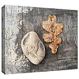 "ArtWall ""Still Life Leaf Stone"" Gallery Wrapped"