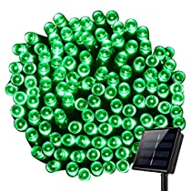 Outdoor Solar String Lights,8 Modes WONFAST Waterproof 72ft 200led Solar Christmas Fairy Lights Ambiance Lighting for Camping, Garden, Patio, Backyard, Fence and Holiday Decorations (Green)
