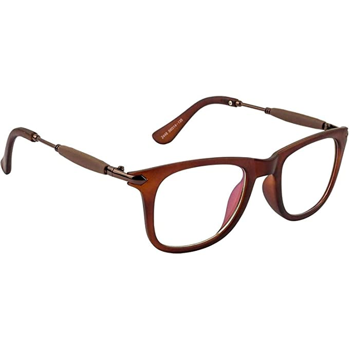 30be68a6d8 Dervin Clear Lens Brown Frame Wayfarer Sunglasses for Men and Women  Amazon. in  Clothing   Accessories