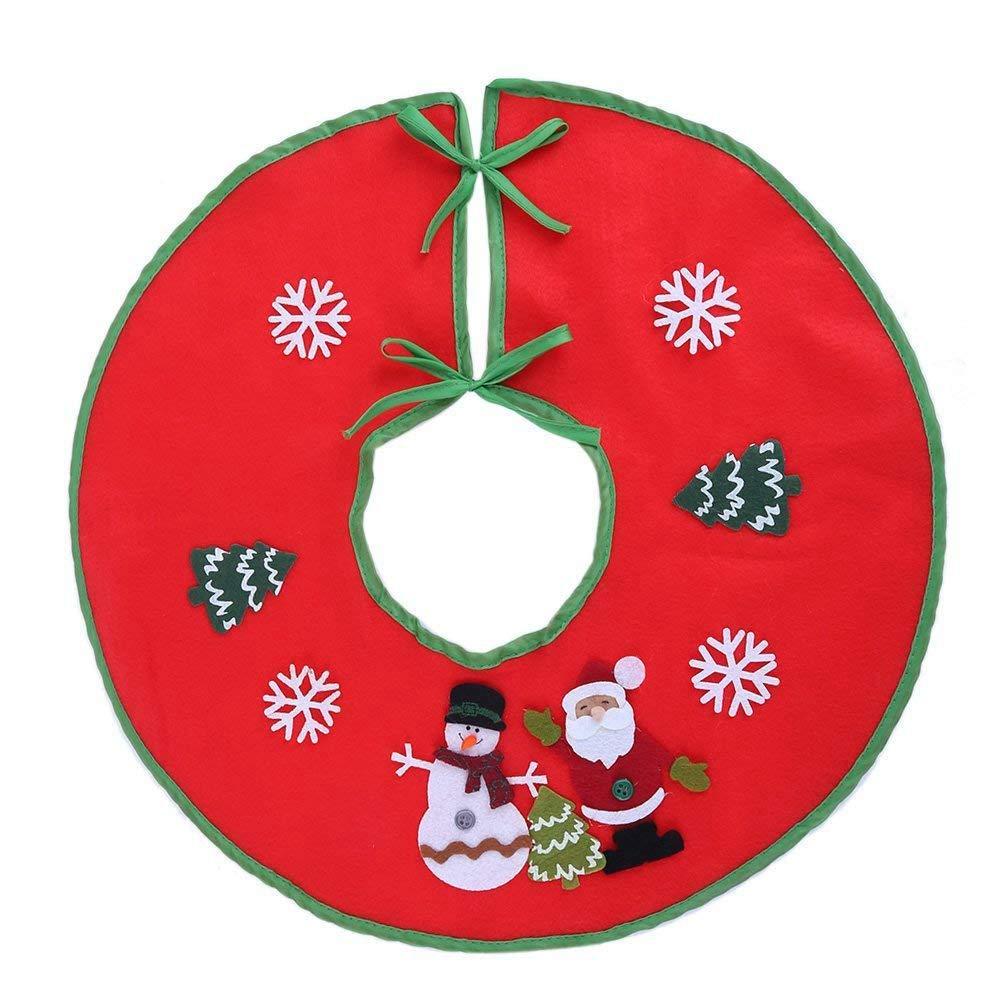 TOOGOO 18 inch Red Christmas Tree Skirt Xmas Tree Skirt Ba Cover Decorations