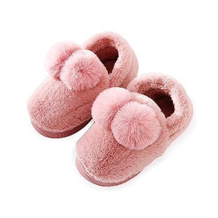 Kanggest.Zapatos Zapatos de algodón de bebé Niñas con Pompon ...