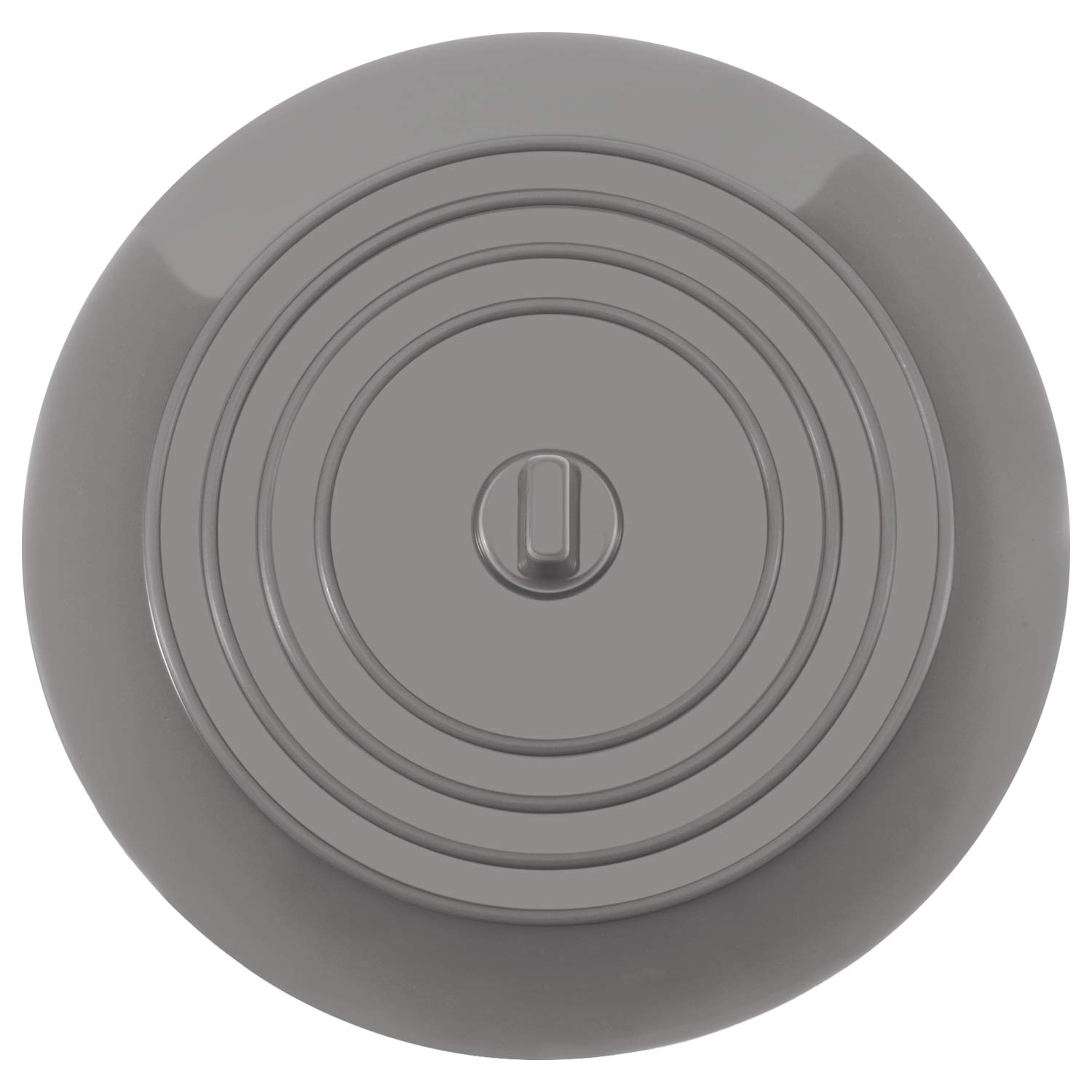 Mudder 6 Inches Silicone Tub Stopper Drain Plug for Kitchens, Bathrooms and Laundries (Light Gray, 1)