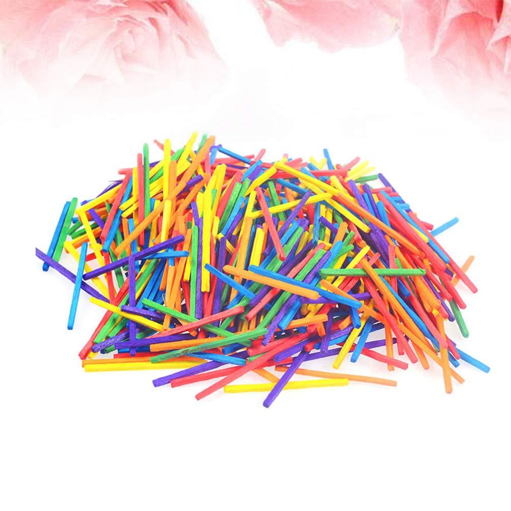 Healifty 1000 st/ücke Handwerk Match Stick DIY Holz farbige Popsicle Sticks Material Handwerk Matchstick Sticks f/ür Kinder Kinder