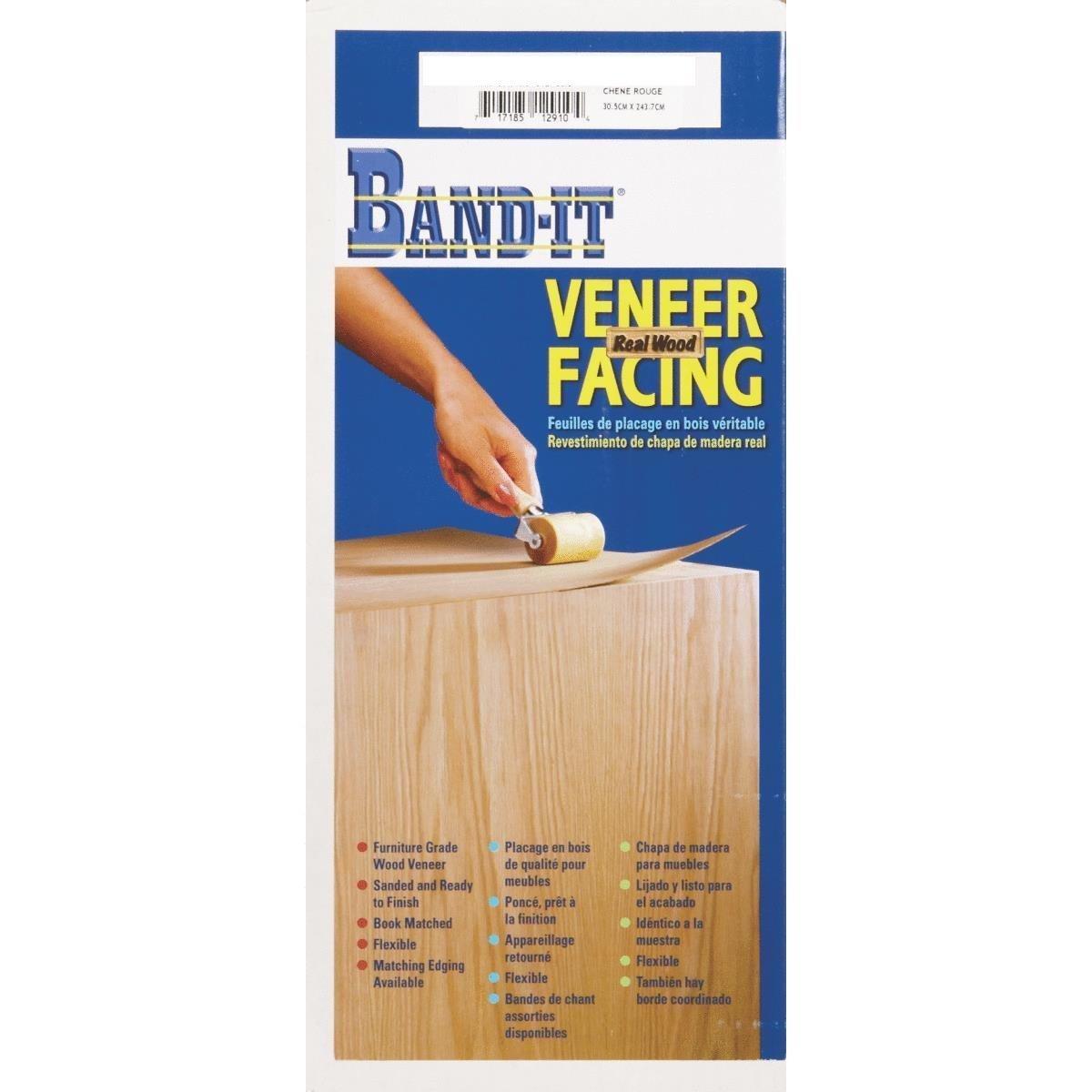 Band-It 24480 Paper Back Real Wood Veneer Facing, 24' x 48', Carolina Pine 24 x 48