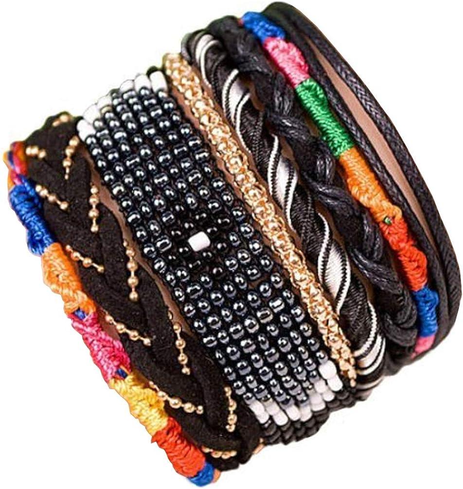 ANDANTE hippie pulsera Fashion en Tribal de diseño One Size con cierre magnético de acero inoxidable (Modelo 4010)