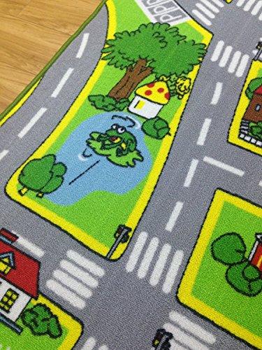 HUAHOO Kids' Rug with Roads Kids Play mat City Street Children Carpet Carpet Kids Rugs Girl Playroom Classrooms Play Area Rug, x 5'