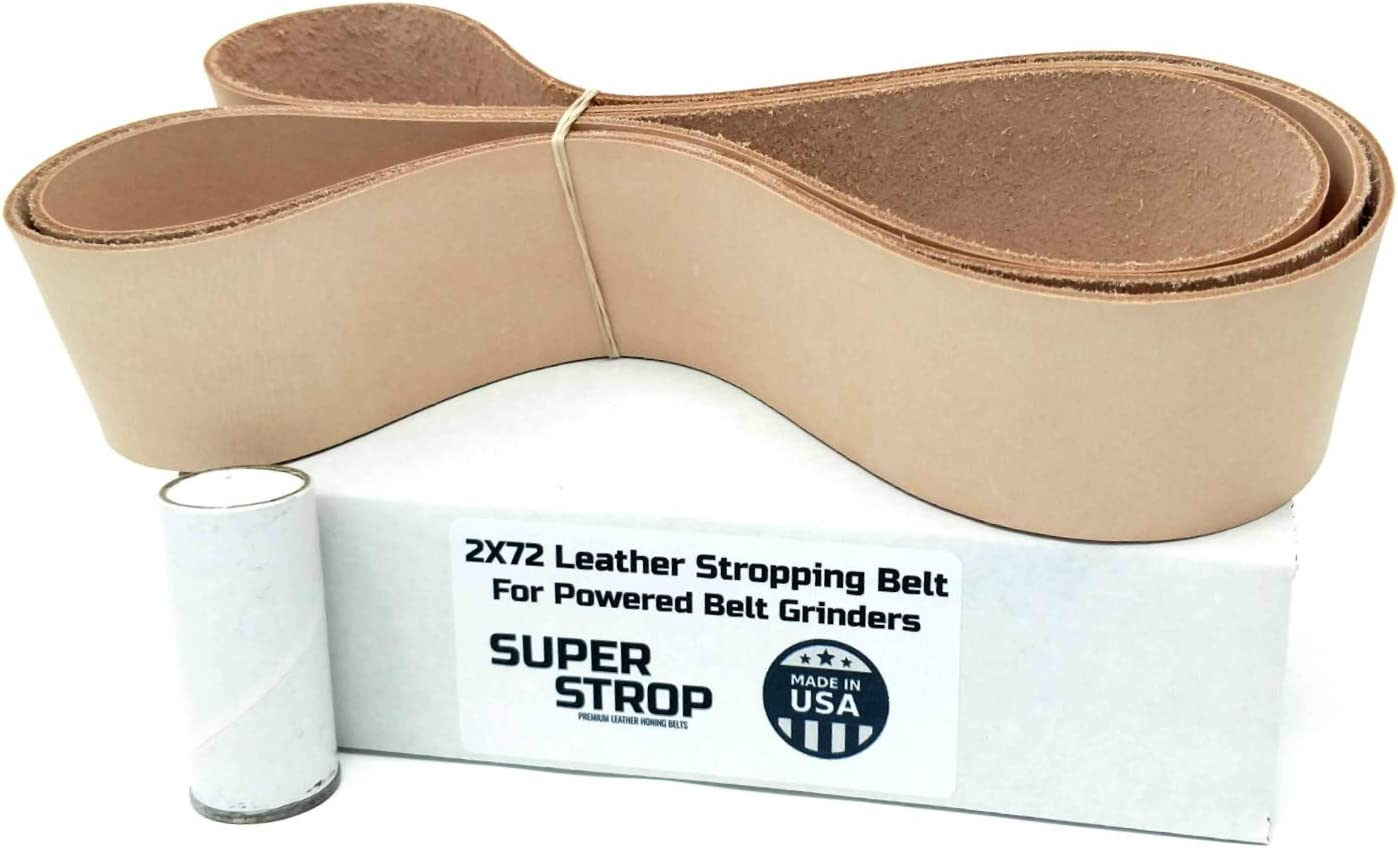 2X72 inch Super Strop Leather Honing Stropping Belt for 2X72 Belt Grinders