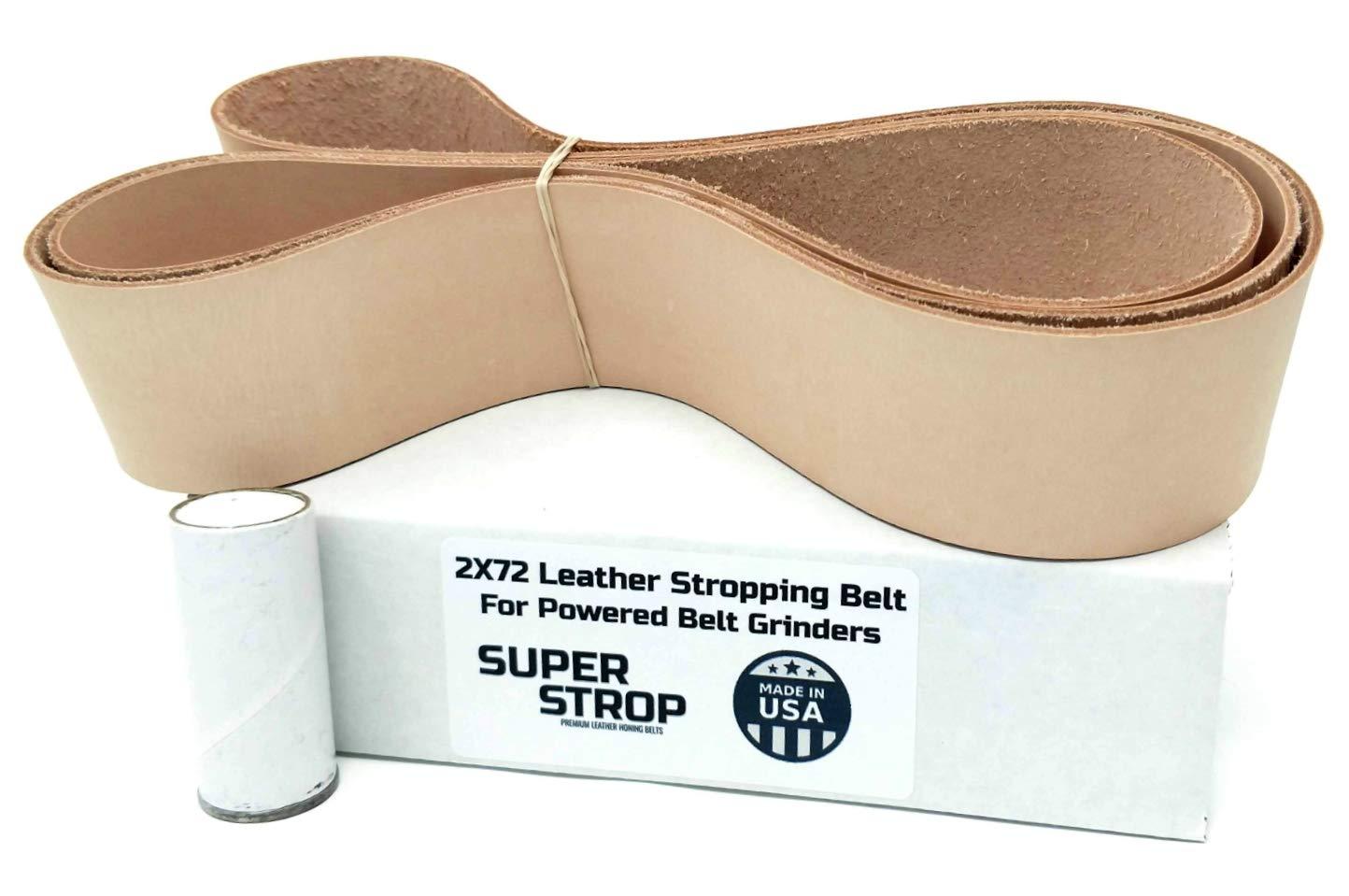 2X72 inch Super Strop Leather Honing Stropping Belt for 2X72 Belt Grinders by Super Strop