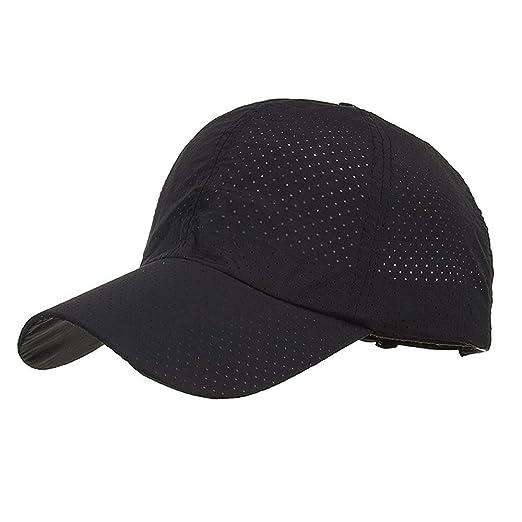Unisex Fashion Golf Cap Adjustable Summer Solid Hat Ventilation Baseball  Hats Breathable Lightweight Mesh Cap ( 3f5800fc4f1