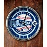MLB Tampa Bay Rays Official Chrome Clock, Multicolor, One Size